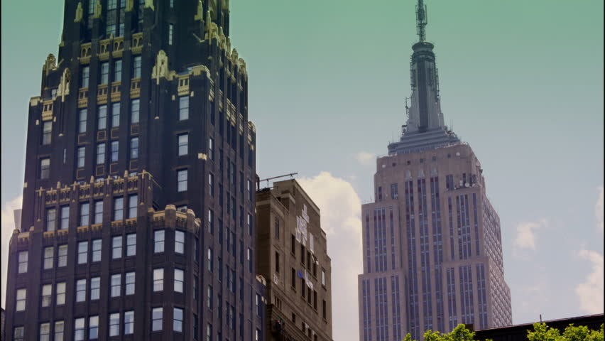 A summer time lapse of the New York City skyline as seen from Bryant Park.