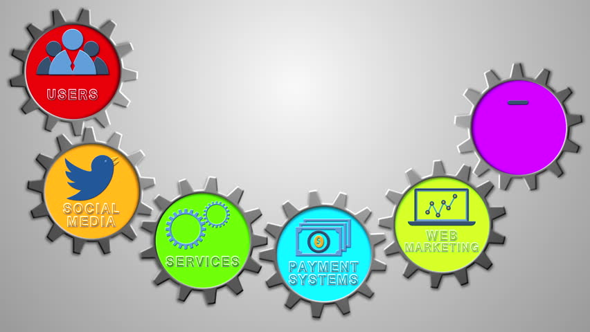 Abstract Social Communication Infographic Design. Video Animation ...