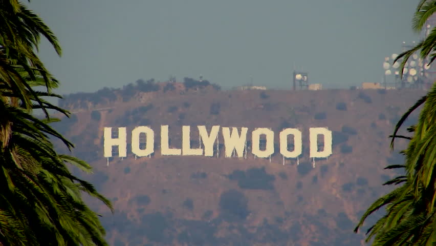 hollywood sign stock footage video shutterstock. Black Bedroom Furniture Sets. Home Design Ideas