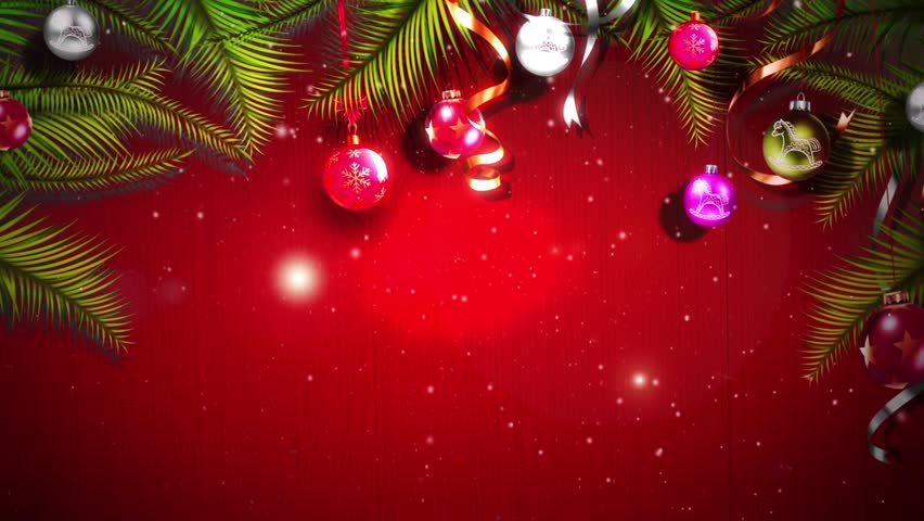 Merry christmas seamless loop glitter text with rotating