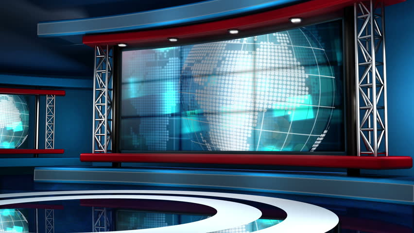 This looping news set is the perfect backdrop for any green screen or chroma key video production.  It features a  clean and modern layout with subtle animation and imagery. | Shutterstock HD Video #5317163