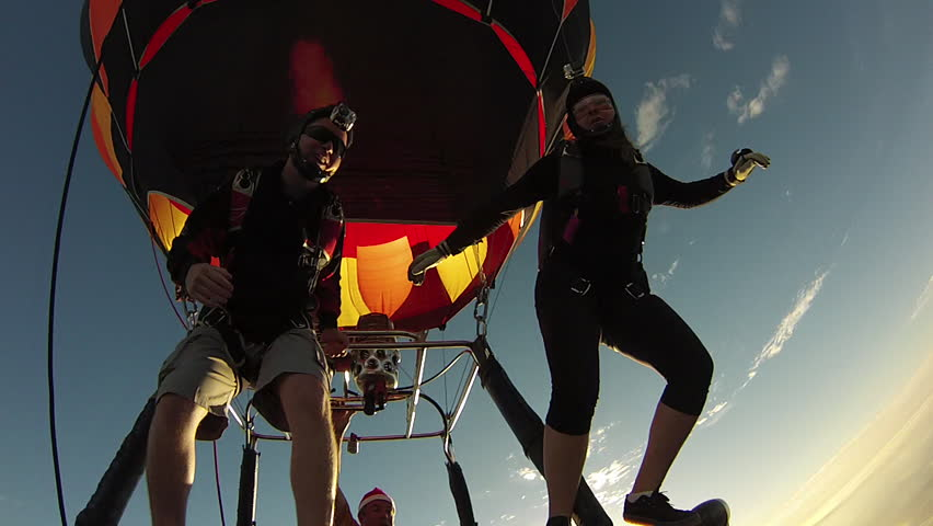 Skydiving from hot air balloon