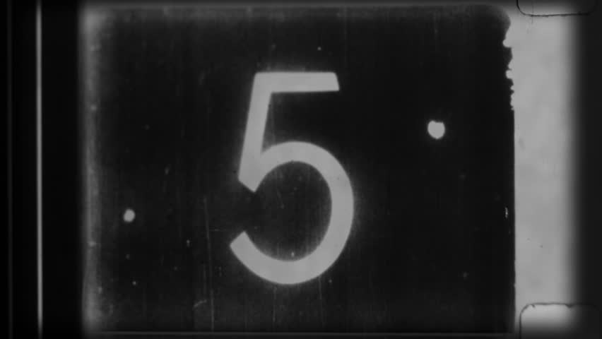 universal film/academy leader countdown, made using 35mm celluloid film strip. this is a super high quality 4k version at 4096x2304 pixels