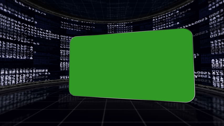 Green Screen Monitor in Numbers Room, with Alpha Channel | Shutterstock HD Video #5434013