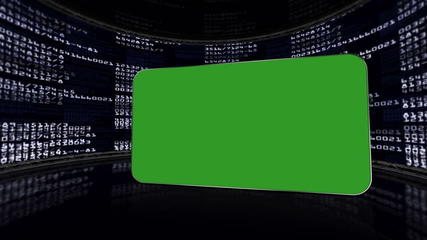 Green Screen Monitor in Numbers Room, with Alpha Channel | Shutterstock HD Video #5448536