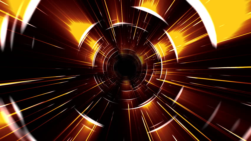 A beautifully animated video background of flight through a light infused tunnel.