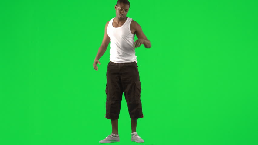 Afro-American young man dancing modern dance footage
