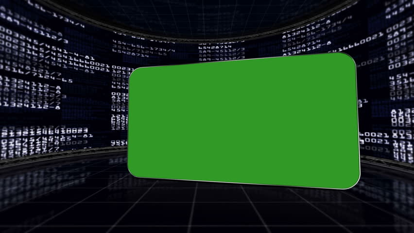 Green Screen Monitor in Numbers Room, with Alpha Channel | Shutterstock HD Video #5615891