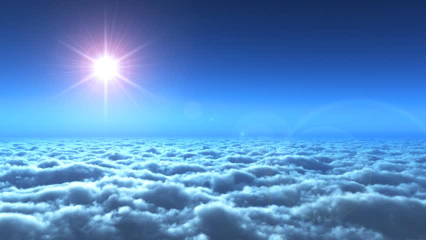 Beautiful Sea And Sun. Blue Sky. Morning Freshness. Looped ...