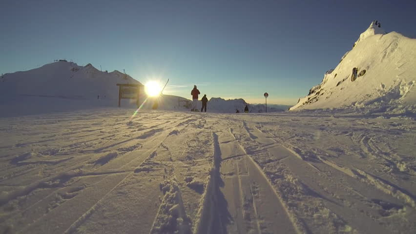 Skiing front view pov | Shutterstock HD Video #5682758