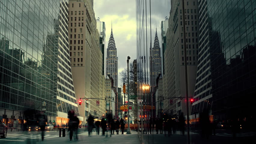 People walking on street in New York City   Shutterstock HD Video #5683673