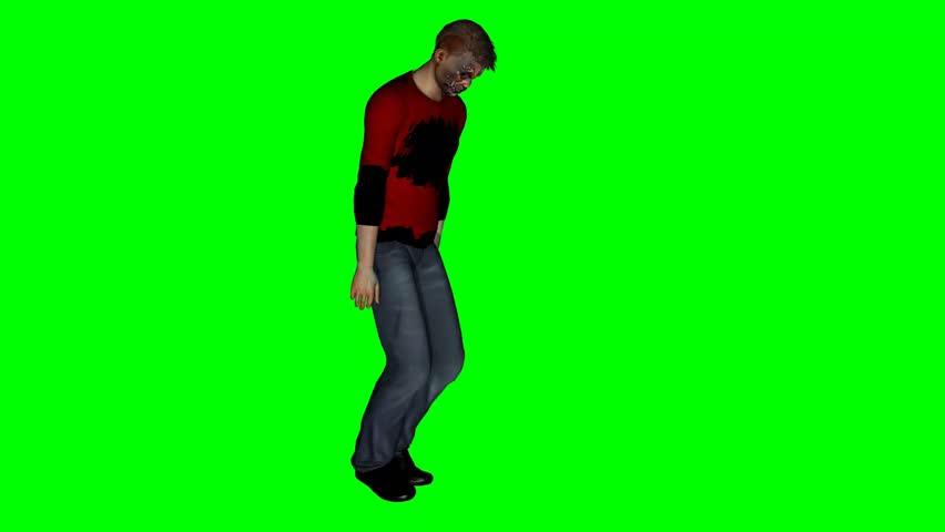 Zombie goes - green screen  | Shutterstock HD Video #5698178