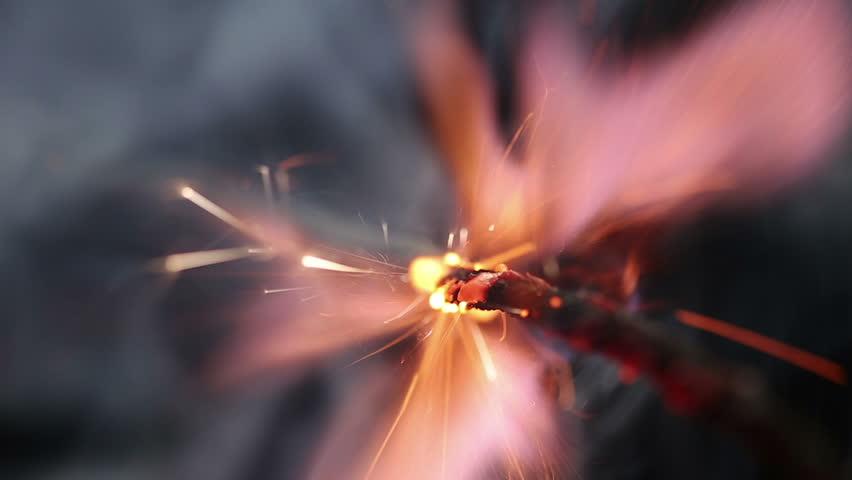 Fuse burning. Dynamite