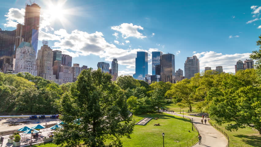 Central Park in New York City - Timelapse of NYC - Green Nature - Public Park - Summer Time-Lapse - Beautiful Colorful Sunny Day Time Lapse   Shutterstock HD Video #5726102