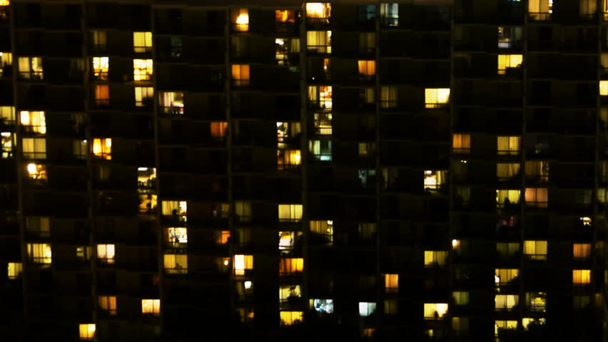 Time Lapse of Apartment Building at Night  | Shutterstock HD Video #5759594