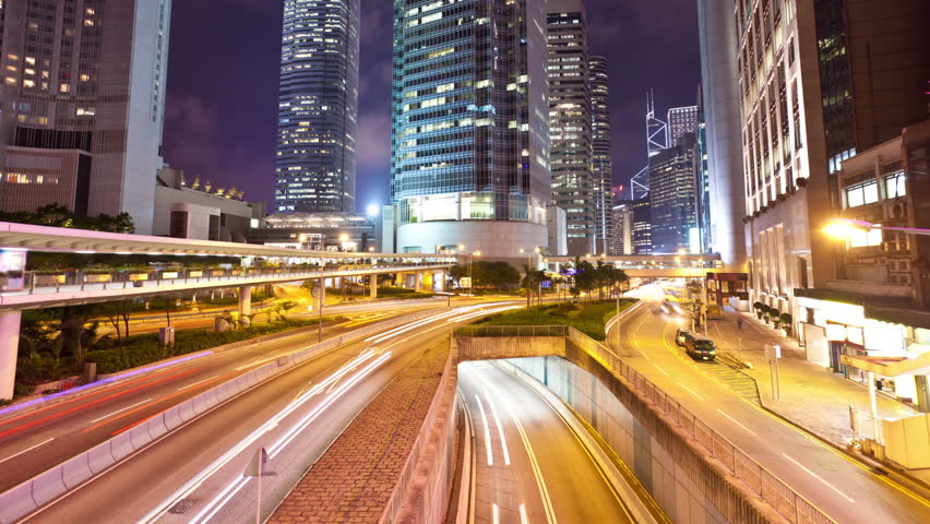 Timelapse video of traffic at night | Shutterstock HD Video #5799599
