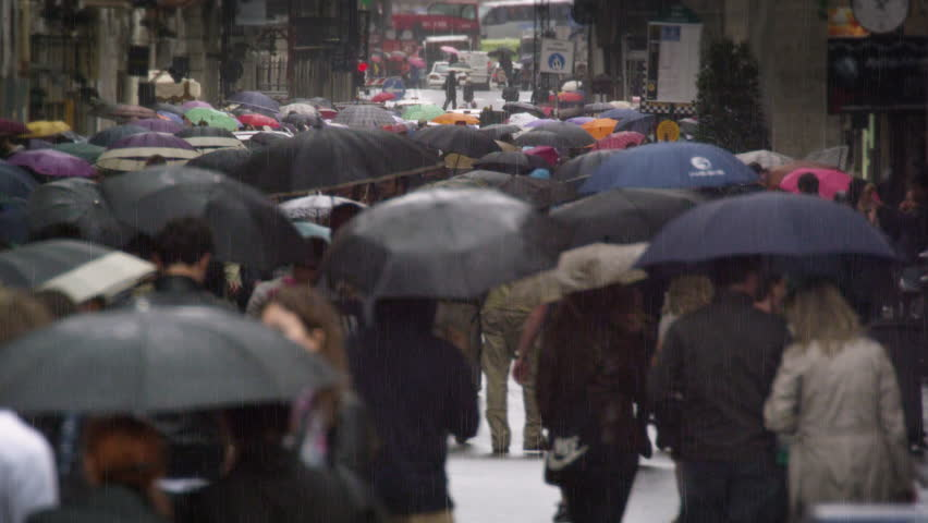 ROME, ITALY - MAY 7, 2012: Slow motion footage of a street filled with people