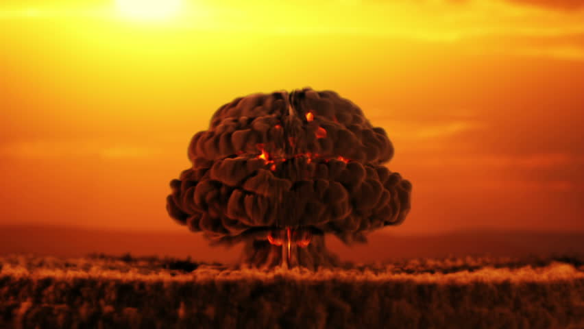 CG of a nuclear blast (concept) in slow motion