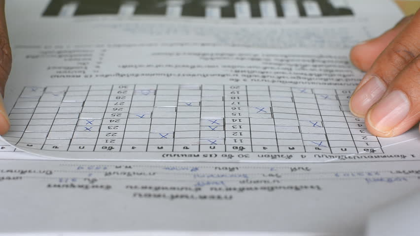 Teacher checking of students exam in scantron sheet - Check marking -  Education | Shutterstock HD Video #5866853
