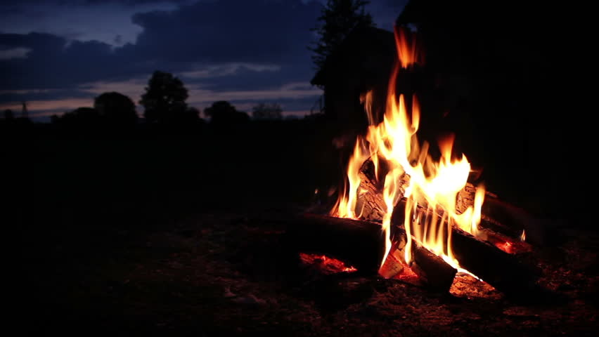Campfire wide shot