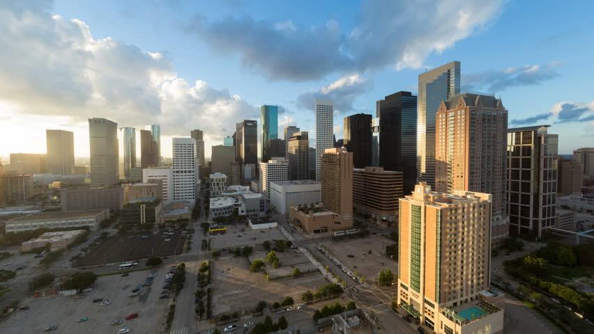 HOUSTON - CIRCA NOVEMBER 2013: Houston, Texas, USA, city skyline, day to night | Shutterstock HD Video #6049808