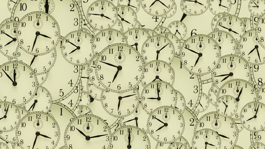 Real footage of clockfaces. Time lapse with clocks moving fast in 3D space | Shutterstock HD Video #610651