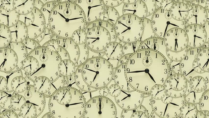 Many clocks with different times and new year writing | Shutterstock HD Video #615007