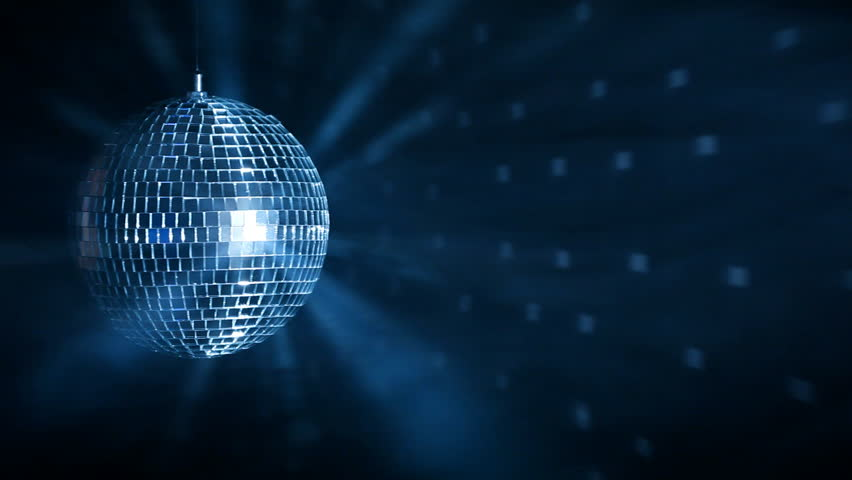 disco ball over dark background stock footage video