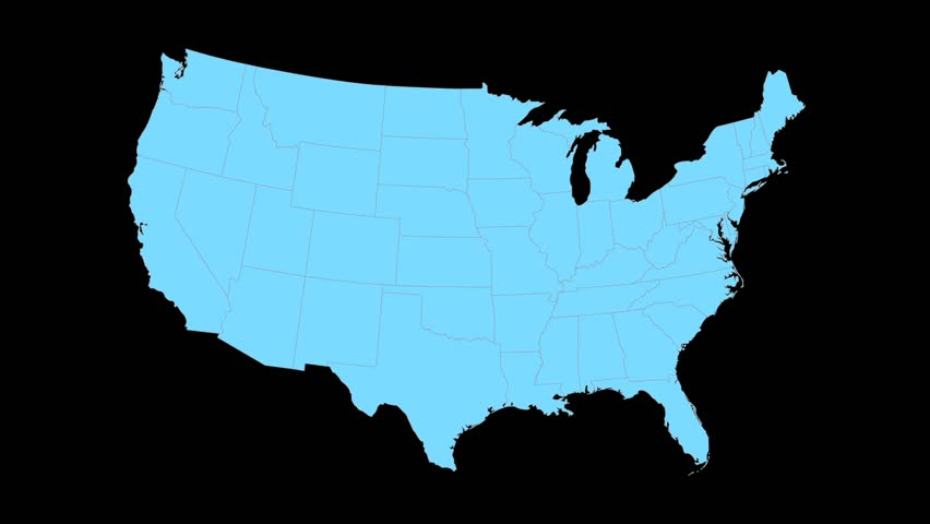 State Of Ohio Map Reveals From The USA Map Silhouette Animation – Map Usa Ohio
