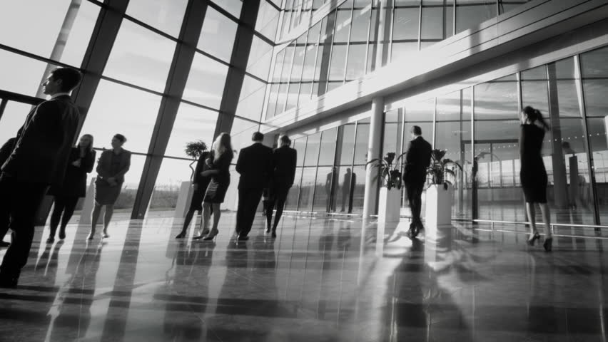 Time lapse of diverse business group in a large modern corporate building | Shutterstock HD Video #6283547
