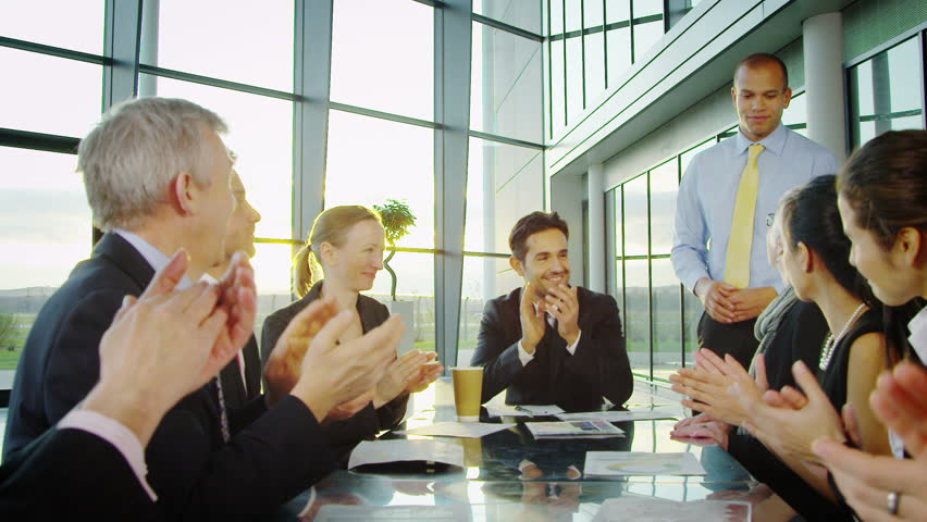 Attractive diverse business group in discussion in a business meeting | Shutterstock HD Video #6284300
