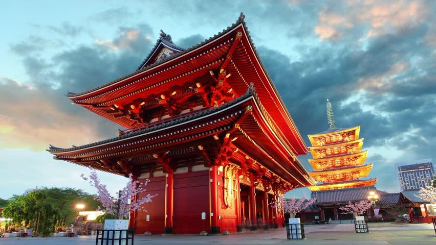 Tokyo - Sensoji-ji, Temple in Asakusa, Japan | Shutterstock HD Video #6325205