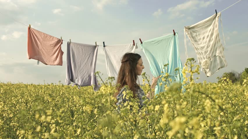 Clothesline Stock Footage Video - Shutterstock