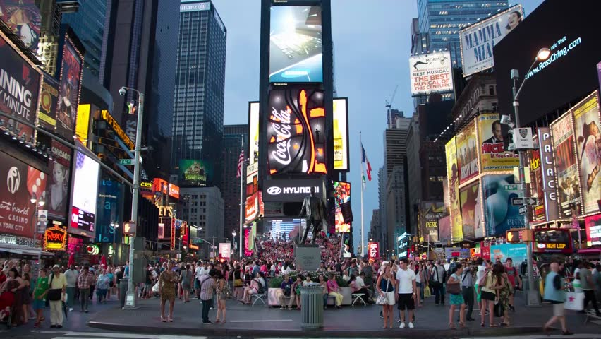 NEW YORK - AUGUST 7: time lapse of human traffic in Times Square shot on August 7, 2012 in New York, NY. | Shutterstock HD Video #6466508