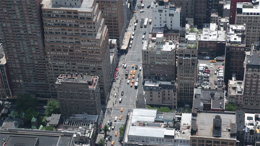 Manhattan midtown buildings NYC sunny day traffic parking   Shutterstock HD Video #6556166