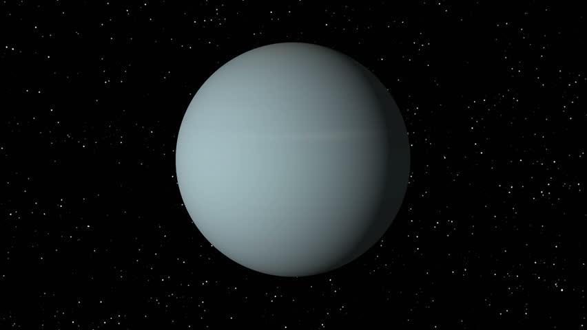 Animated One Revolution Of Planet Uranus With Correct ...