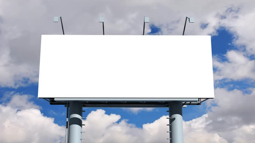 Blank Billboard Blank Billboard With M...