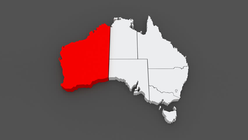 3d Animation Of Australia Map Formed By Individual States – Map States Australia
