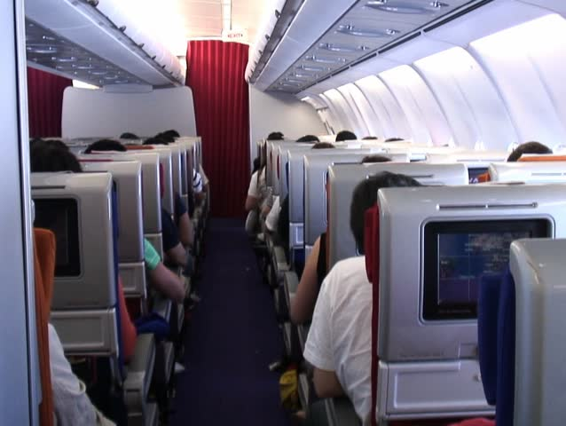 Inside plane | Shutterstock HD Video #6884