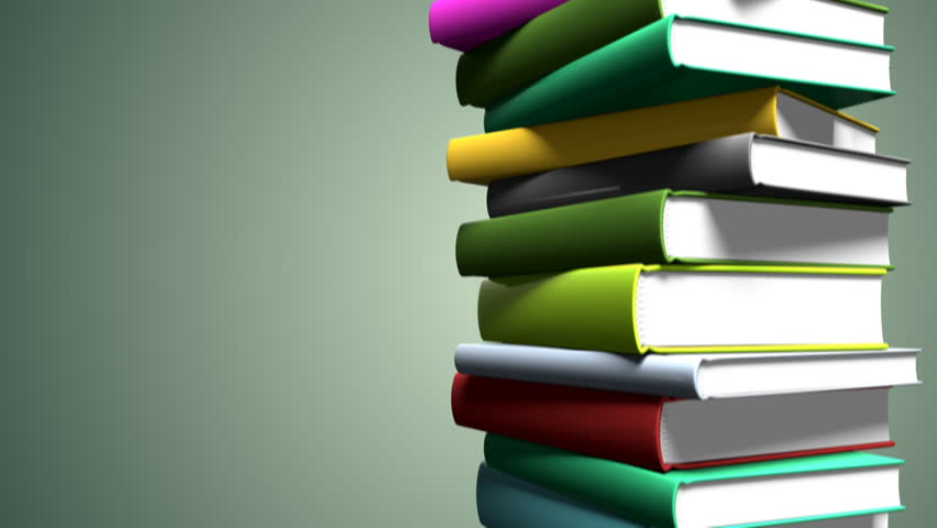 Image result for stack of colorful books