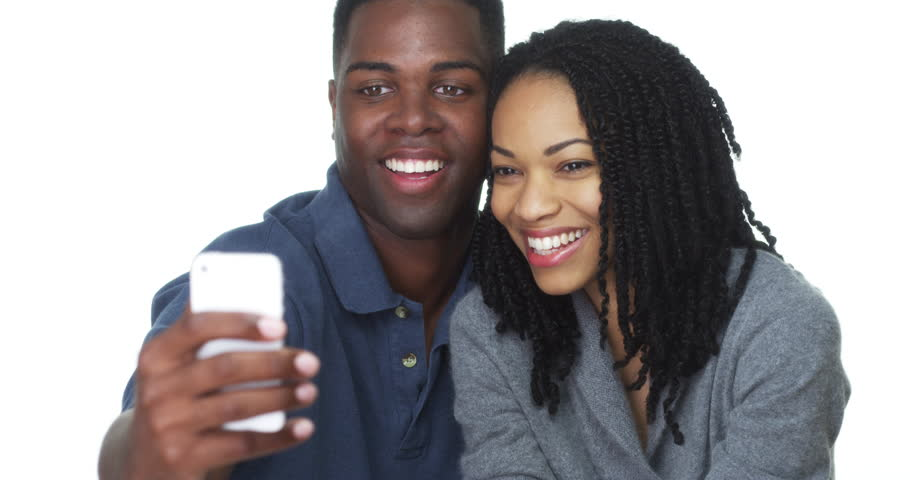 Image result for african american couple taking selfie