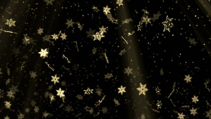 Golden stars seamless background | Shutterstock HD Video #7027267