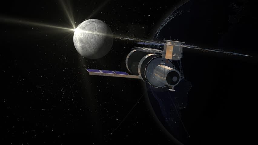 Skylab Space Station in Earth orbit | Shutterstock HD Video #7117528