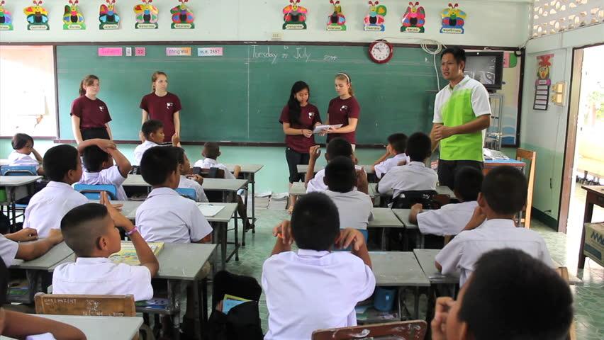 Asian missionary classroom