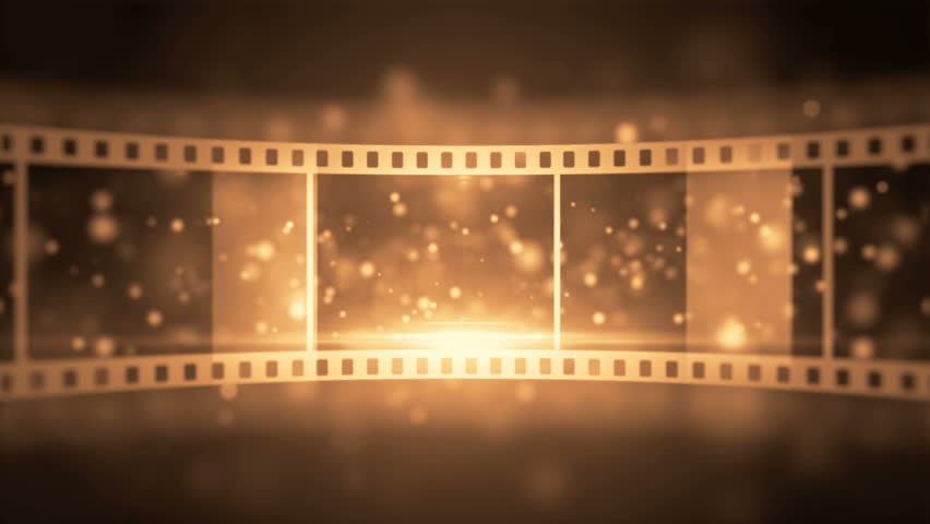 film reel animated background stock footage video 3673868