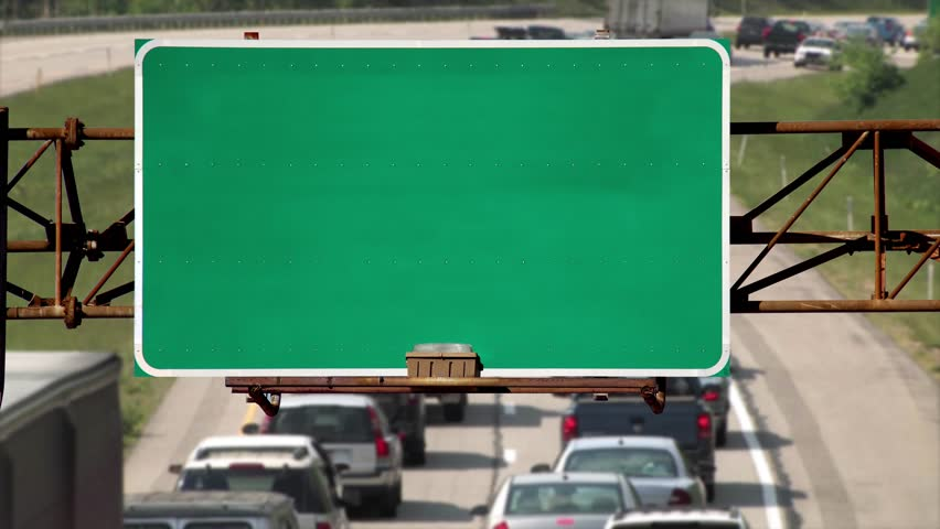 billboard poster advertising green screen wall for copy