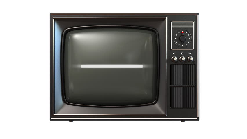 old tv, turning channels animation, loop-able