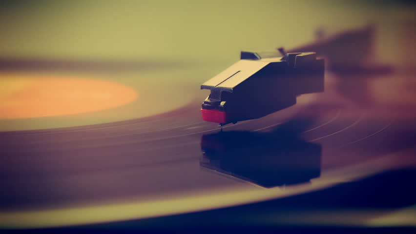 Record player turntable HD stock footage.