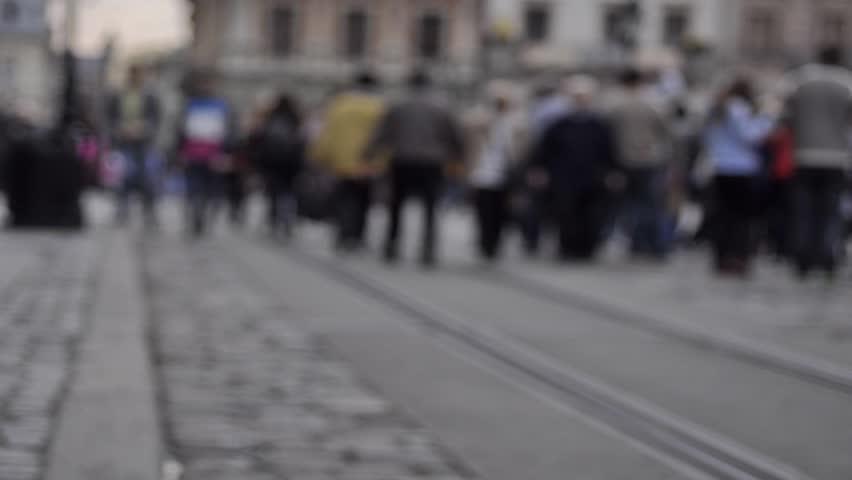 People crowd feet-walking in street #7443037