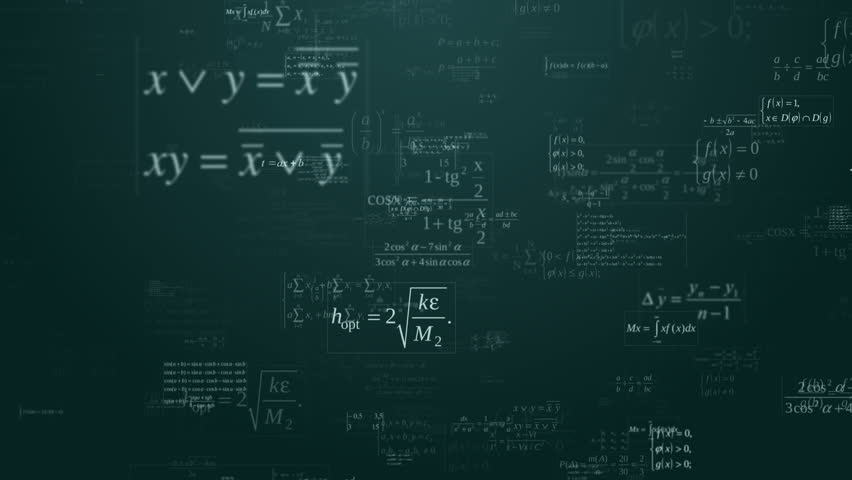Loopable floating mathematical formules on the blue background   Shutterstock HD Video #7485955